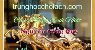 Chúc mừng sinh nhật Nguyễn Công Quý