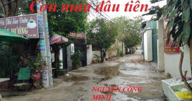 CƠN MƯA ĐẦU TIÊN. của Nguyễn Công Minh