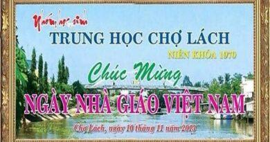 THƯ MỜI Họp mặt Kỷ niệm ngày Nhà Giáo Viet Nam 2020