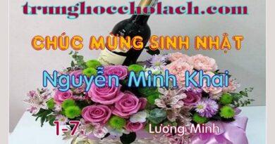 CHÚC MỪNG SINH NHẬT NGUYỄN MINH KHAI
